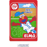 Elmo Twin Acrylic Blend Plush Blanket (Steal the Base)