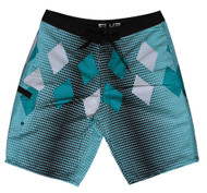 Mens Paradise Teal Board Shorts