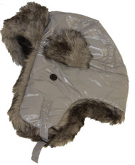 Ushanka Faux Fur Trapper Winter Flight Trooper Hat Cap GREY