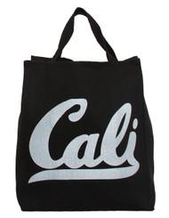 Cali Script  Black Tote Bag