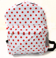 Clover White Red Polka Dot Backpack