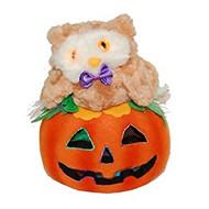 Halloween Light Up Owl Jack-O-Latern - (Battery Powered)