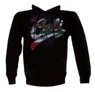 Konflic Mens Cali Script Bear Shadow Hooded Sweatshirt