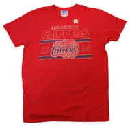 Red 1984 Faded Vintage Los Angeles Clippers Logo Shirt
