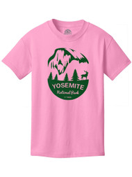 Yosemite National Water-Cased Kids Cotton T-Shirt