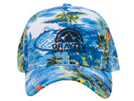 Gravity Outdoor Co. Island Floral Adjustable Baseball Cap