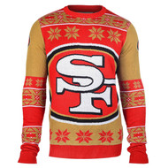 Football 2015 Big Logo Ugly Crew Neck Holiday Sweater - San Francisco 49ers
