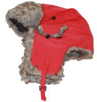 Ushanka Faux Fur Trapper Winter Flight Trooper Hat Cap RED
