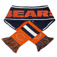 2013 NFL Football Team Logo Wordmark Scarf - Chicago Bears