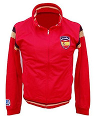 Large Red Soccer Futbol Spain International Zip-Up Track Jacket