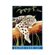 Golden Snow CAT Mink Plush Blanket Queen Size - Signature Collection