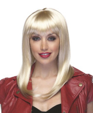 Womens Hollywood Blonde Synthetic Costume Wig
