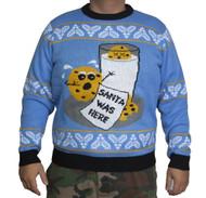 Milk Cookie Santa Ugly Christmas Sweater