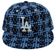 MLB Los Angeles Dodgers New Era 59Fifty Black Argyle Fitted Hat