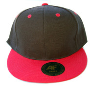 Academy Black Red Bill Snapback Hat Cap