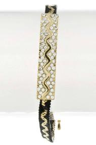 Womens Fashion Zigzag Rhinestone Thin Bracelet