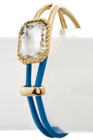 Womens Fashion Clear Stone String Bracelet