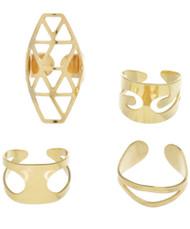 Womens Fashion Ring Set (4 pcs)