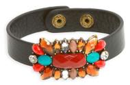Womens Fashion Floral Gem Wristband