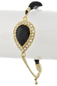 Womens Fashion Color Stone String Bracelet