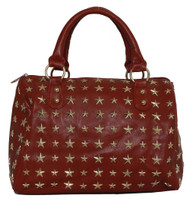 "Womens Designer ""Francette de Lys"" Star-Studded Tote Shoulder Bag"