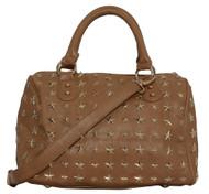 """Womens Fashion """"Francette de Lys"""" Star-Studded Tote Shoulder Bag"""