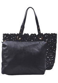 Womens Designer Shell Tote Bag w/ Removable Pouch