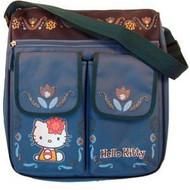 Hello Kitty Messenger Style Diaper Bag in Blue