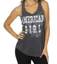 Tank American Girl womens tank top with Lace on side