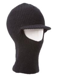 Face Ski Mask w/ Visor - Black