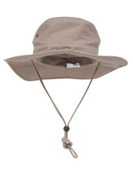 BRUSHED TWILL  HUNTING FISHING HAT W/SIDE SNAPS, Khaki