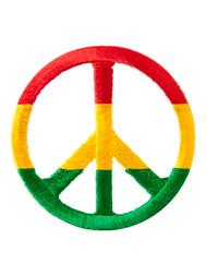 Rasta Peace Sign Patch
