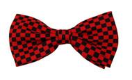 Pre-tied Bowtie - Red & Black Checkered