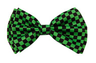 Bow Tie 4.3 inches Green & Black Checkered