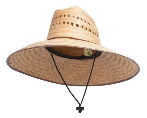 "TopHeadwear Ultra 5"" Wide Brim Straw Sun Hat w/ Panel Holes - Natural"