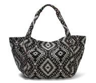 Large Open Tote Bag w/ Side Pocket