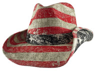 NEW PETER GRIMM RED PATRIOT AMERICANA POCKET LINED DRIFTER COWBOY HAT