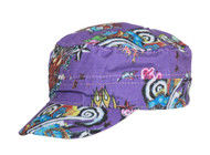 Clover Hard Style Tattoo Fitted Cadet Hat - Medium/Large