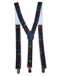 Adult Marijuana Weed Hemp Suspenders