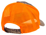 Logo Realtree Hunting Two-Tone Trucker Hat - Orange/Realtree