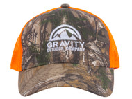 Logo Realtree Hunting Two-Tone Trucker Hat - Orange/Realtree