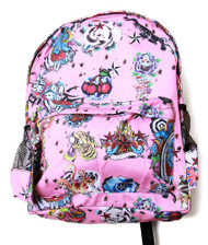 Clover Pink Backpack - Hard Tattoo Style