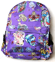 Clover Purple Backpack - Hard Tattoo Style