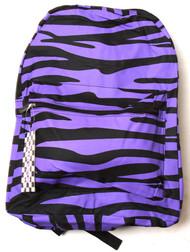 Clover Purple Zebra Print Backpack