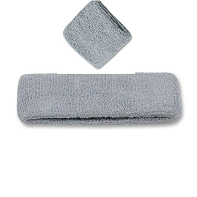 Solid Blank Head and Wristband Set (Many Colors Available), Grey