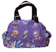 Clover One Front Pocket Hand Bag - Purple Hard Style Tattoo