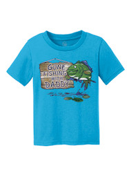 Gone Fishing With Daddy Kids Cotton T-Shirt