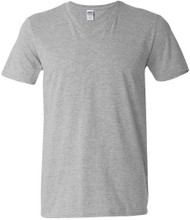 Gildan Adult Softstyle Cotton V-Neck T-Shirt, Sport Grey