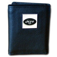 New York Jets Executive Leather Trifold Wallet in a Box