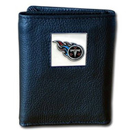 NFL Tennessee Titans Genuine Leather Tri Fold Wallet